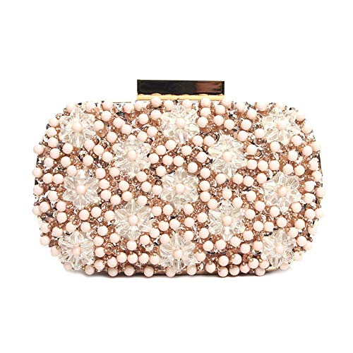 DHUYUN Evening Bag Fashion Women Glitter Clutch Bag Evening Bridal Prom Party Handbag Purse
